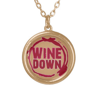 """""""Wine Down"""" Gold Plated Necklace"""