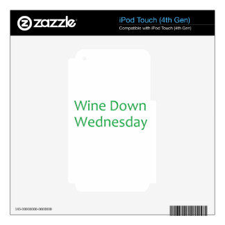 wine down-green decals for iPod touch 4G
