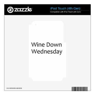 wine down wednesday- black iPod touch 4G decals