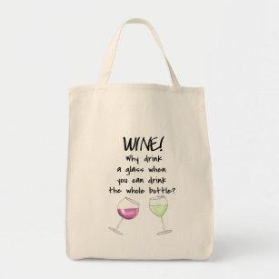 White Wine Bottle Tote Bags Zazzle