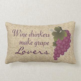 Wine drinkers make grape lovers pillow