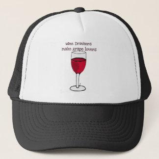 WINE DRINKERS MAKE GRAPE LOVERS wine print by jill Trucker Hat