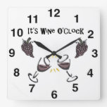 Wine Drinkers Wall Clock - Unique Gift Wine Lovers