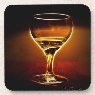 Wine  energy  inside  the wine glass coaster
