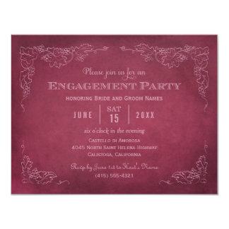 Wine Engagment Party Invitation | Vintage Vineyard