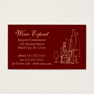 Wine Expert Business Card