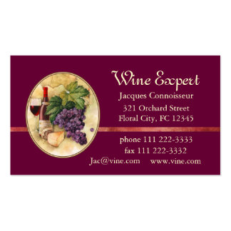 Wine Expert Double-Sided Standard Business Cards (Pack Of 100)
