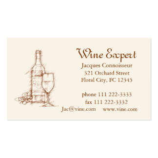 Wine Expert Business Card