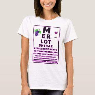WINE EYE CHART TRANSPARENT T-Shirt