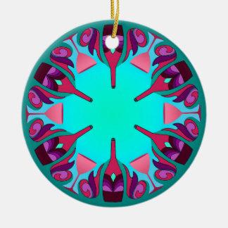 Wine Fantasy Ceramic Ornament