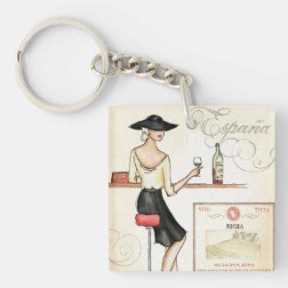 Wine Fashionista Keychain