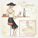 Wine Fashionista Square Sticker