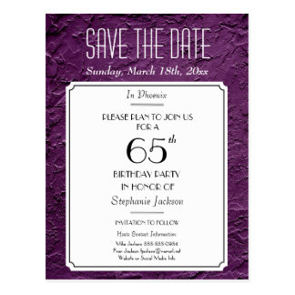 Wine Faux Textured Party or Reunion Save the Date Postcard