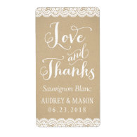 Wine Favor Labels | Lace and Kraft