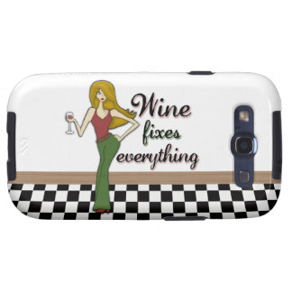 Wine Fixes Everything Samsung Galaxy SIII Case
