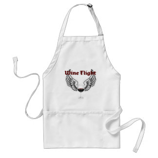 WINE FLIGHT WINGS AND RED WINE PRINT ADULT APRON