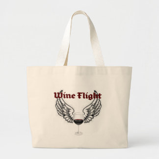 WINE FLIGHT WINGS AND RED WINE PRINT BAG