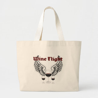 WINE FLIGHT WINGS AND RED WINES PRINT BAGS