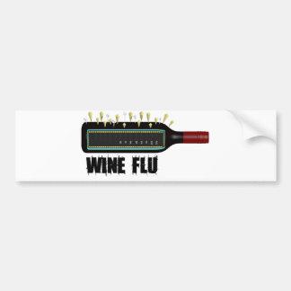 Wine Flu Car Bumper Sticker