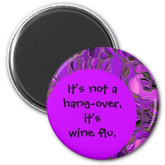 wine flu joke magnet
