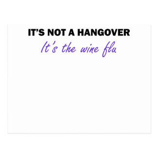 Wine Flu Post Card