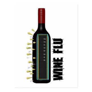 Wine Flu Postcard