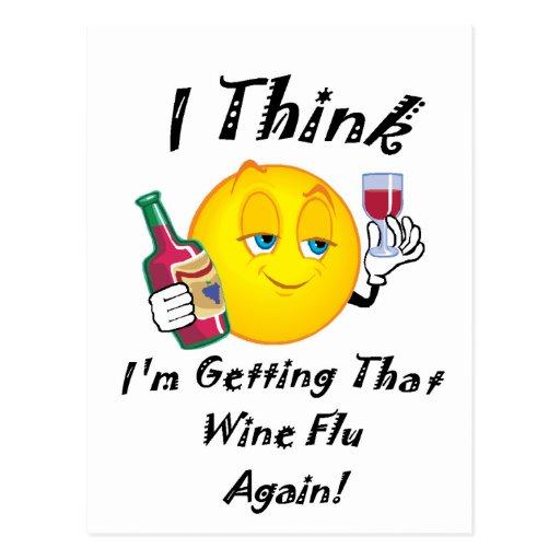 Wine Flu Postcards