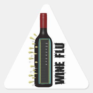 Wine Flu Triangle Sticker