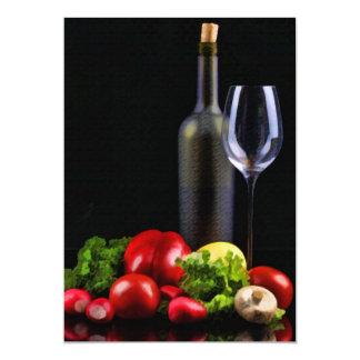 "Wine for a Salad 5"" X 7"" Invitation Card"