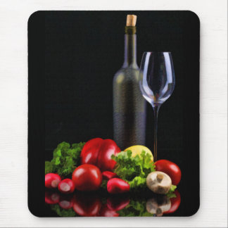 Wine for a Salad Mouse Pad