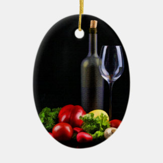 Wine for a Salad Ornament