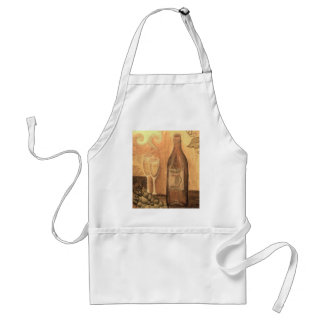 Wine for two, in Bronze Adult Apron