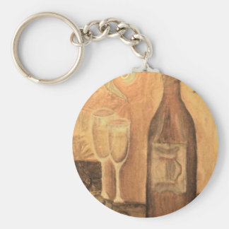 Wine for two, in Bronze Keychain