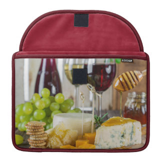 Wine Fruit & Cheeseplate Gastronomy Macbook Sleeve
