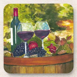 Wine: Fruit of the Vine Drink Coasters