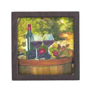 Wine: Fruit of the Vine Premium Jewelry Box