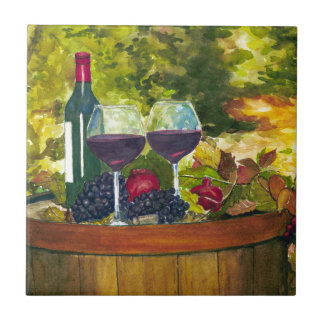Wine: Fruit of the Vine Small Square Tile