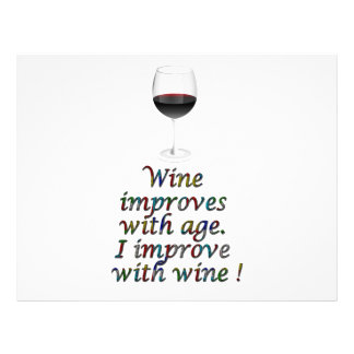Wine funny text flyer