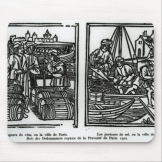 Wine gaugers and salt merchants, 1501 mouse pad