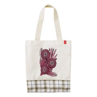 Wine Gerbera Daisy Flower Bouquet Zazzle HEART Tote Bag