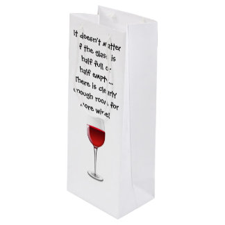 Wine Gift Bag with Funny Saying