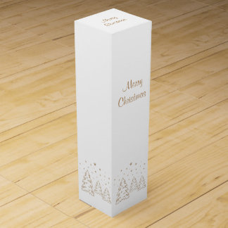 Wine Gift Box Christmas Landscape Gold–Own Color