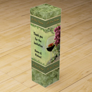 Wine Gift Box with your own Text