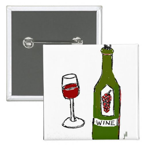 WINE GLASS AND BOTTLE SKETCH by jill Pins