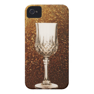 Wine Glass and Festive Gold iPhone 4 Case