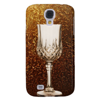 Wine Glass and Festive Gold Galaxy S4 Case