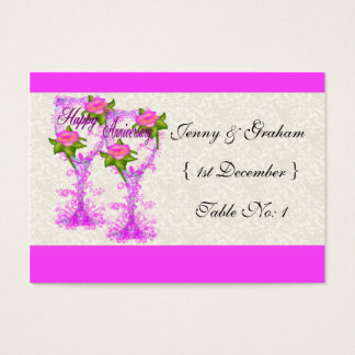 Wine Glass Anniversary Business Card