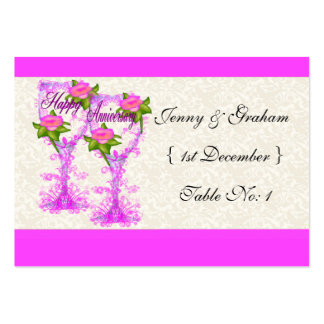 Wine Glass Anniversary Large Business Cards (Pack Of 100)