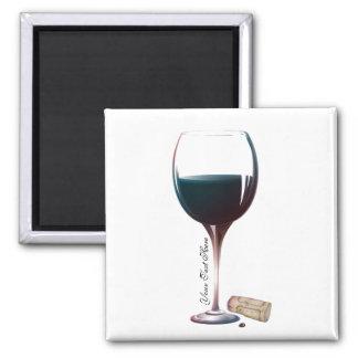 Wine Glass Art Personalised Logo Magnet