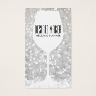 Wine Glass | Bokeh Business Card